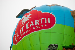 Flat Earth balloon