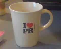 I love PR (public relations)