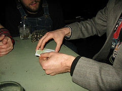 danila does a card trick, of course